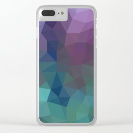 Shades of Amethyst Low Poly Clear iPhone Case