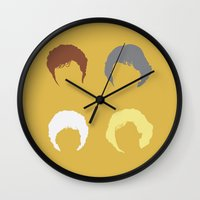 golden girls Wall Clocks featuring The Girls by Stevie NYC