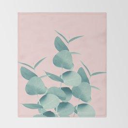Eucalyptus Leaves Green Blush #1 #foliage #decor #art #society6 Throw Blanket