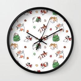 Christmas Guinea Pigs Wall Clock