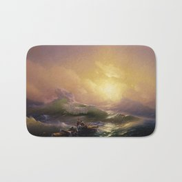 The Ninth Wave - Aivazovsky Bath Mat