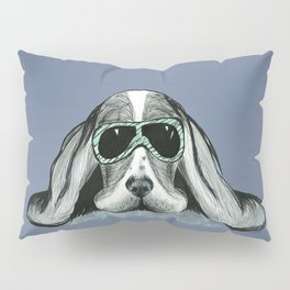 Cool Basset Hound Pillow Sham