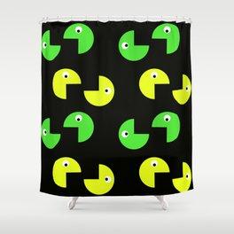 Pacman Pattern Shower Curtain