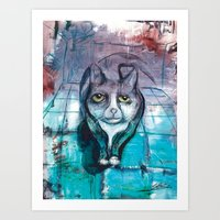 miles davis Art Prints featuring Miles by Stephen Batiz