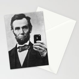 Abraham Lincoln iPhone Selfie Stationery Cards