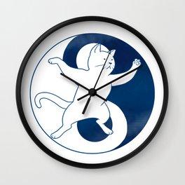 Tai Chi Cat 01 Wall Clock