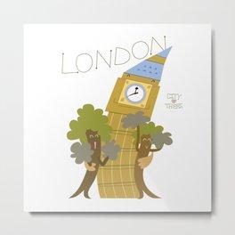 LONDON LOVES TREES Metal Print