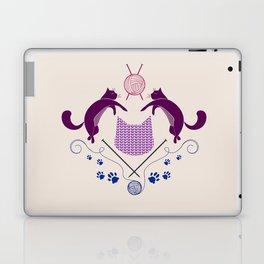 Cats Knitting Demask - Digital Art Laptop & iPad Skin