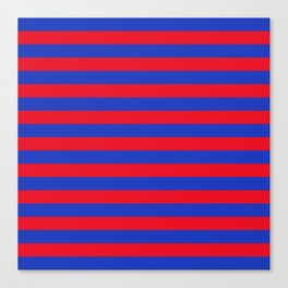 Blue and Red Stripes Canvas Print