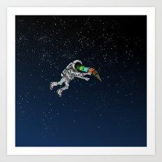 Spacetime Sadness Art Print