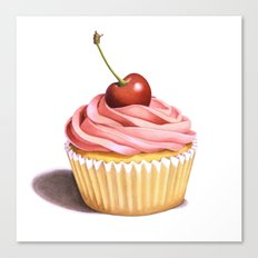 The Perfect Pink Cupcake Canvas Print