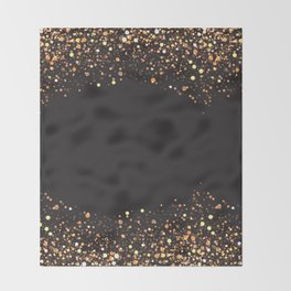 Black and gold #society6 Throw Blanket