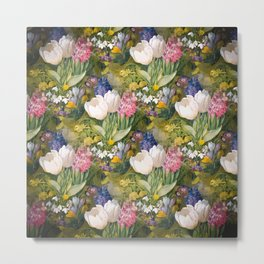 Tulips and primroses Metal Print