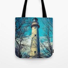 Poe Style Grosse Point Lighthouse on Lake Michigan Evanston Illinois Tote Bag