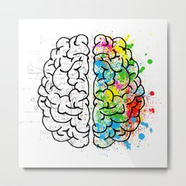 Artistic and Rational Brain Metal Print