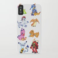digimon iPhone & iPod Cases featuring Digimon Group by Catus