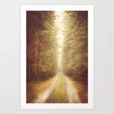 Straight Away Art Print