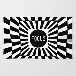 Black and White Focus (Customizable Label) Rug