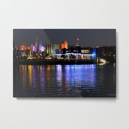 Universal Studios at Night Metal Print