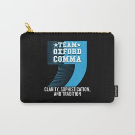 Team Oxford Comma Carry-All Pouch