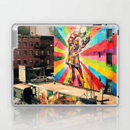 Street Art Mural, Times Square Kiss Recreation Laptop & iPad Skin