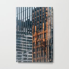 City Painting reflection on modern skyscrapers in Financial District Metal Print