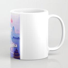 Cambodia vintage flight poster Coffee Mug
