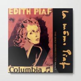 PIAF MUSIC VINTAGE Metal Print
