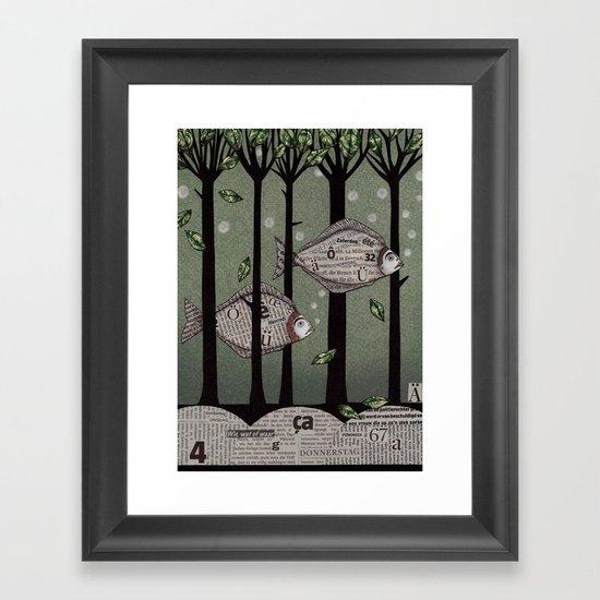 A Fishy Story Framed Art Print