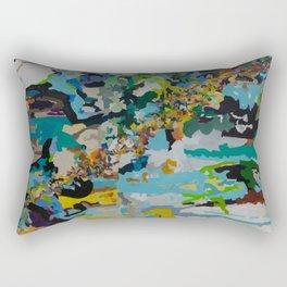Four Bodies Flexing Rectangular Pillow
