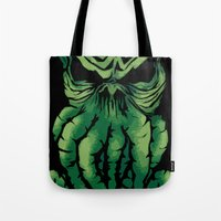 cthulhu Tote Bags featuring Cthulhu by PCRK