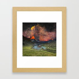 Lonely Mountain Framed Art Print