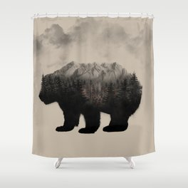 WHEN NATURE TALKS Shower Curtain