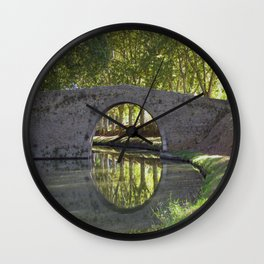 Canal du Midi Wall Clock