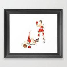 Knock-out Framed Art Print