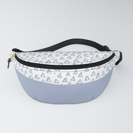 Triangles Light Blue Fanny Pack