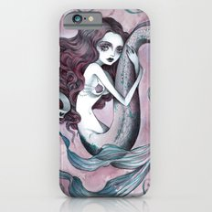 Mermaid hearts (pink and teal) iPhone 6 Slim Case