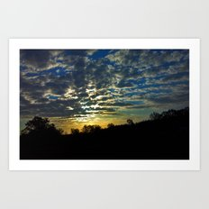 Sunrise over South Georgia Art Print