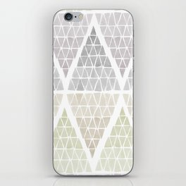 Stacked Triangles - Neutral iPhone Skin