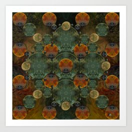 """Glass candy Mosaic (caramel pattern)"" Art Print"
