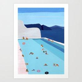 Coastal pool Art Print