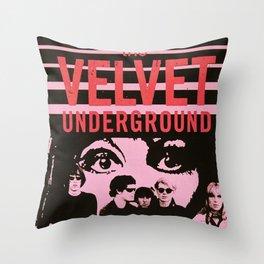 1968 Velvet Underground Concert Gig Vintage Advertising Poster Throw Pillow