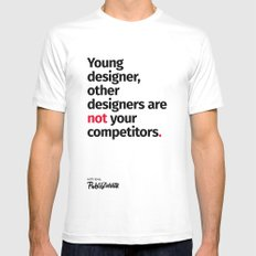 Young Designer — Advice #1 White MEDIUM Mens Fitted Tee