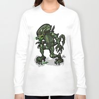 xenomorph Long Sleeve T-shirts featuring Xenophobe?  Well, yeah...  This Alien spits acid! The Aliens Xenomorph Alien! by beetoons