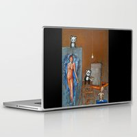 pandas Laptop & iPad Skins featuring Painting Pandas by Chris Shockley - shock schism