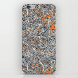 monstera leaves orange iPhone Skin