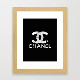Couture Fashion Designer Inspired Marble Typography Framed Art Print