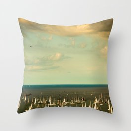 the Barcolana regatta in the gulf of Trieste Throw Pillow