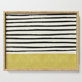 Gold x Stripes Serving Tray