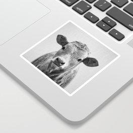 Cow 2 - Black & White Sticker